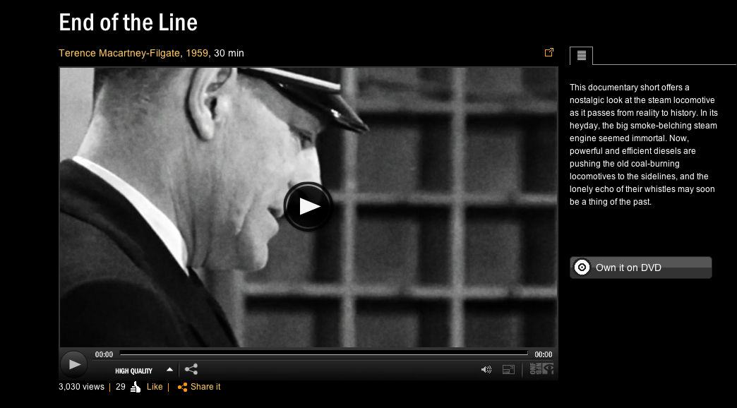 End of the Line available on NFB Website